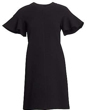 Lela Rose Women's Flutter Sleeve Shift Dress