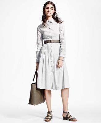 Stretch Linen Shirt Dress $528 thestylecure.com