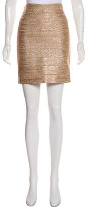 Haute Hippie Bandage Mini Skirt