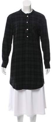 Ulla Johnson Plaid High-Low Shirtdress