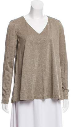 Lafayette 148 Flared Metallic Top