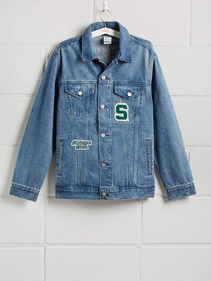 PINK Michigan State University Banded Denim Jacket