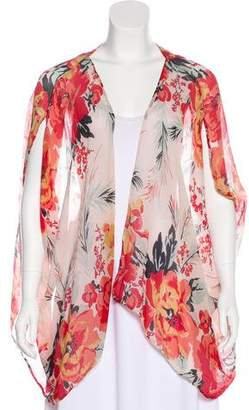 Winter Kate Floral Print Open-Front Cardigan