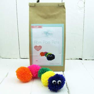 Hurley Sarah Pom Pom Pets Craft Kit Rainbow Caterpillar