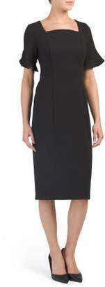 Bell Sleeve Midi Dress