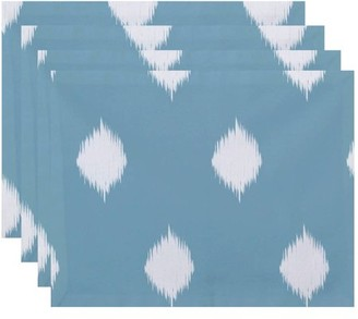 "Simply Daisy 18"" x 14"" Hol-I-Kat Holiday Ikat Print Placemats, Set of 4"