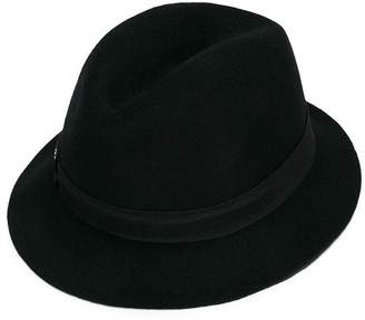 Dondup Kids grosgrain fedora hat