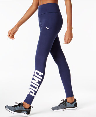 Puma Style Swagger dryCELL Logo Leggings $35 thestylecure.com