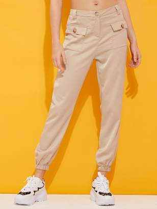 Shein Flap Pocket Patched Carrot Pants