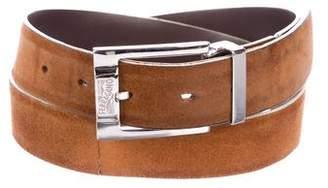 Salvatore Ferragamo Reversible Suede & Leather Belt