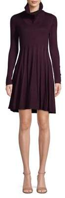 Calvin Klein Turtleneck Pleated Fit--Flare Dress