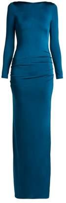 Galvan - Corona Jersey Dress - Womens - Navy