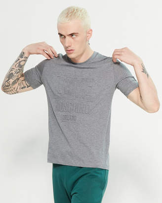 Love Moschino Embossed Logo Short Sleeve Tee