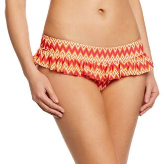 Curvy Kate Women's Shockwave Skirted Brief Aztec Bikini Bottoms