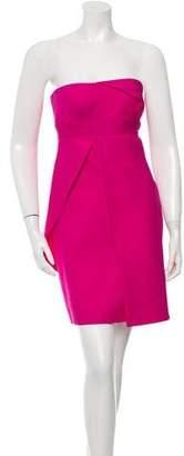 Versace Silk & Wool-Blend Strapless Dress w/ Tags