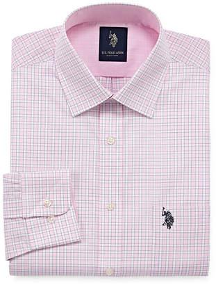 U.S. Polo Assn. USPA Long Sleeve Yarn Dyed Woven Pattern Dress Shirt - Slim