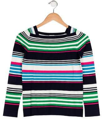 Milly Minis Girls' Striped Long Sleeve Sweater