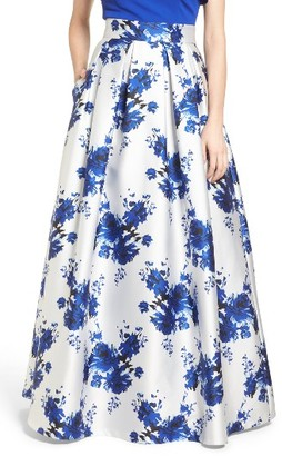 Women's Eliza J Floral Mikado Ball Skirt $228 thestylecure.com
