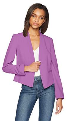 Nine West Women's Kiss Front Jacket with Shawl Collar