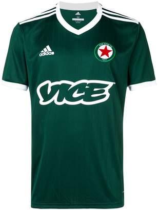 adidas Vice print football T-shirt