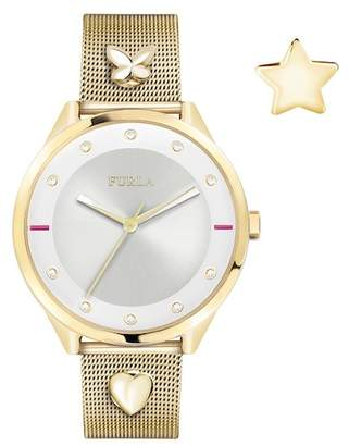 Furla Women's Pin Analog Quartz Mesh Bracelet Watch, 38mm