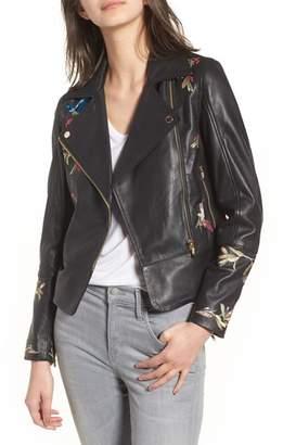 Ted Baker Highgrove Leather BIker Jacket