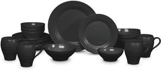 Mikasa Dinnerware, Swirl Black 20-Piece Set Service for 4