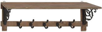Uma Enterprises Wood Metal Shelf Hook