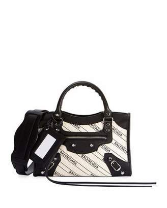 Balenciaga Classic Mini City AJ Logo Shoulder Bag
