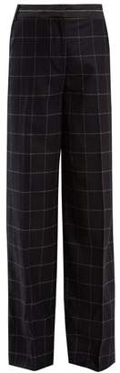 Elizabeth and James Hansel High Rise Wide Leg Wool Blend Trousers - Womens - Navy