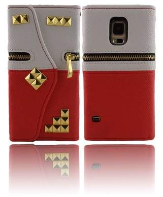 THE CASE DOCTOR GET YOUR CASE LIFT WITH THE CASE DOCTOR TCD for S6 EDGE [ONLY] Gold Studded Wallet Case with Credit Card Slots