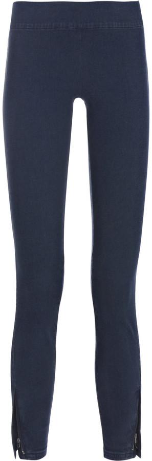 Juicy Couture High-rise zip-hem cropped denim leggings