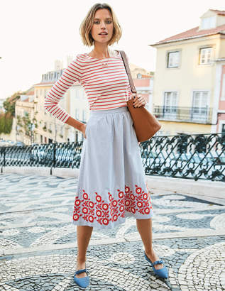 Boden Haidee Embroidered Skirt