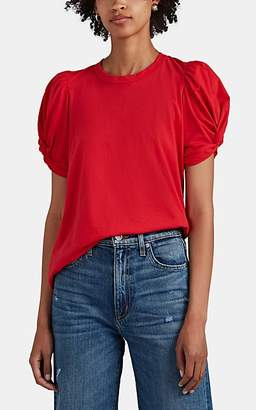 A.L.C. Women's Kati Puff-Sleeve Cotton T-Shirt - Red