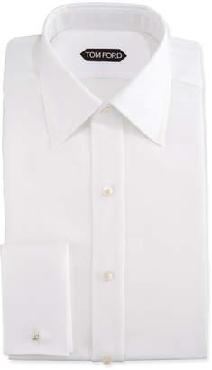 Tom Ford Classic French-Cuff Slim-Fit Dress Shirt, White