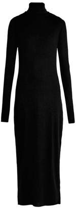 Raey Roll Neck Ribbed Fine Knit Cashmere Dress - Womens - Black