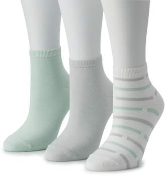 Solid & Striped Sonoma Goods For Life Women's SONOMA Goods for Life 3-Pack Ankle Socks