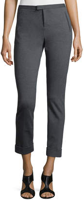 ATM Anthony Thomas Melillo Ponte Slim Cuffed Ankle Pants