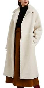 Martin Grant Women's Shearling Cocoon Coat - Cream
