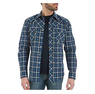 Wrangler Men's Two Pocket Long Sleeve Western Shirt