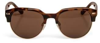 Max Studio Olivia -zyl Topped Gold Rimmed Sunglasses