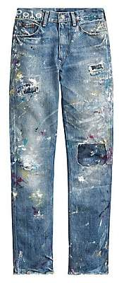 Polo Ralph Lauren Women's Reede High-Rise Destroyed Straight Jeans
