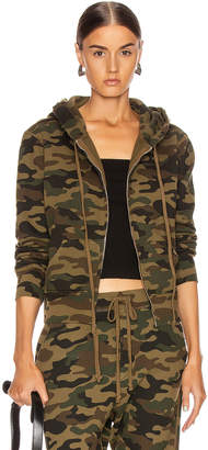 Nili Lotan Callie Zip Up Hoodie in Green Camouflage Print | FWRD