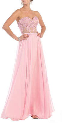 Asstd National Brand Strapless Sweetheart Pageant Dress