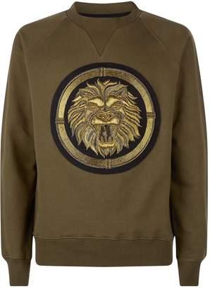 Balmain Embellished Logo Sweatshirt