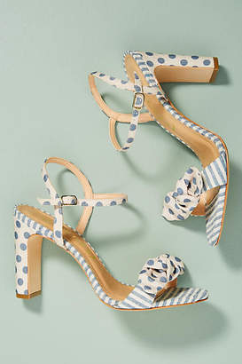 Vicenza Striped + Dotted Heeled Sandals