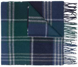 Barbour check pattern scarf