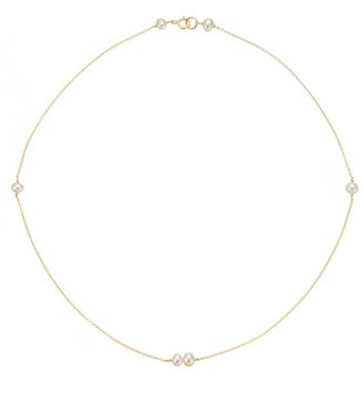 Lily & Roo Gold Six Pearl choker Necklace