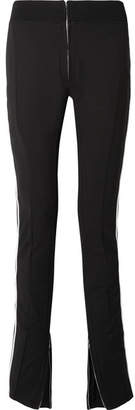 TRE - Melanie Striped Stretch Wool-blend Skinny Pants - Black
