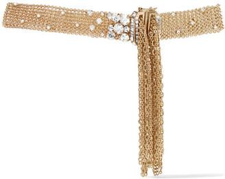 Lanvin - Gold-tone Swarovski Crystal Choker - one size $1,190 thestylecure.com